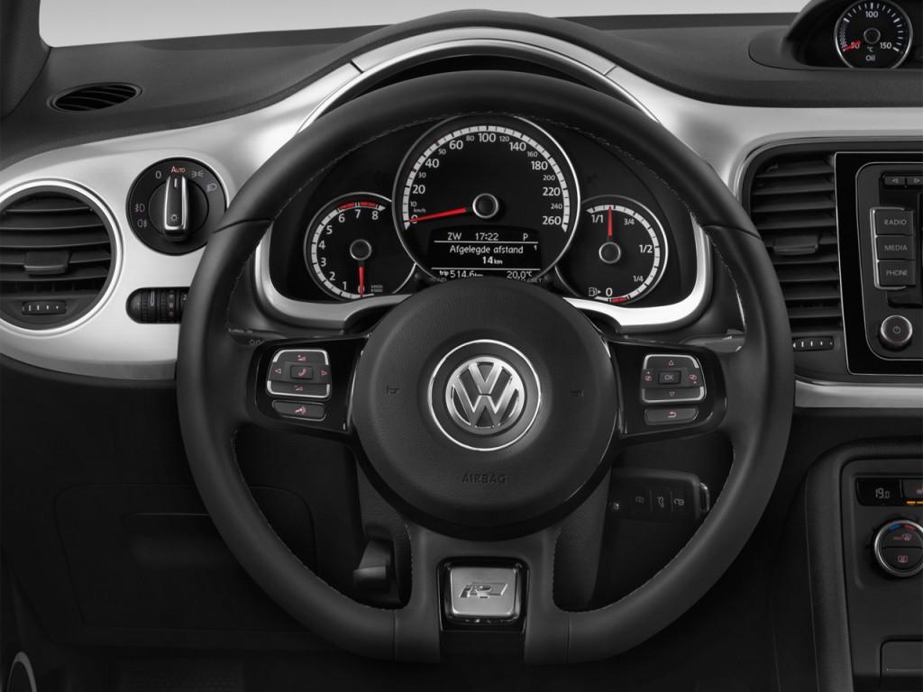 Image: 2015 Volkswagen Beetle Coupe 2-door Man 2.0T R-Line Steering ...