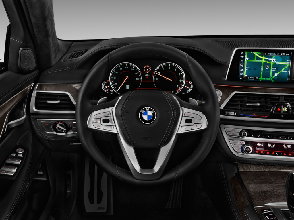 Image 2016 Bmw 7 Series 4 Door Sedan 750i Rwd Steering Wheel Size 1024 X 768 Type Gif