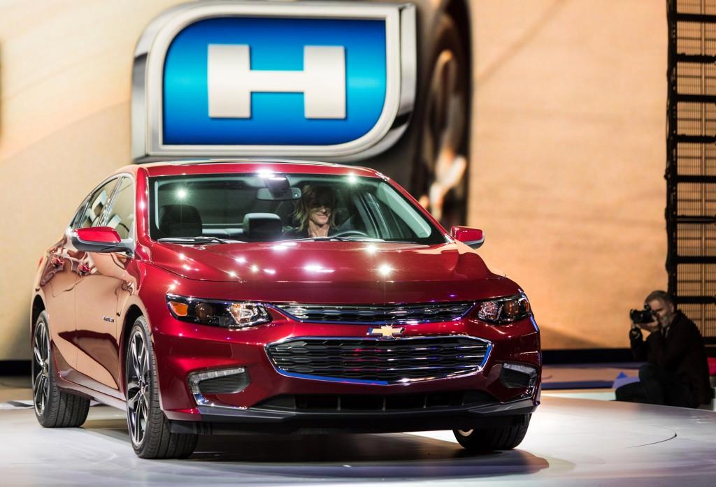 new car launches april 2015Image 2016 Chevrolet Malibu Hybrid launch  2015 New York Auto