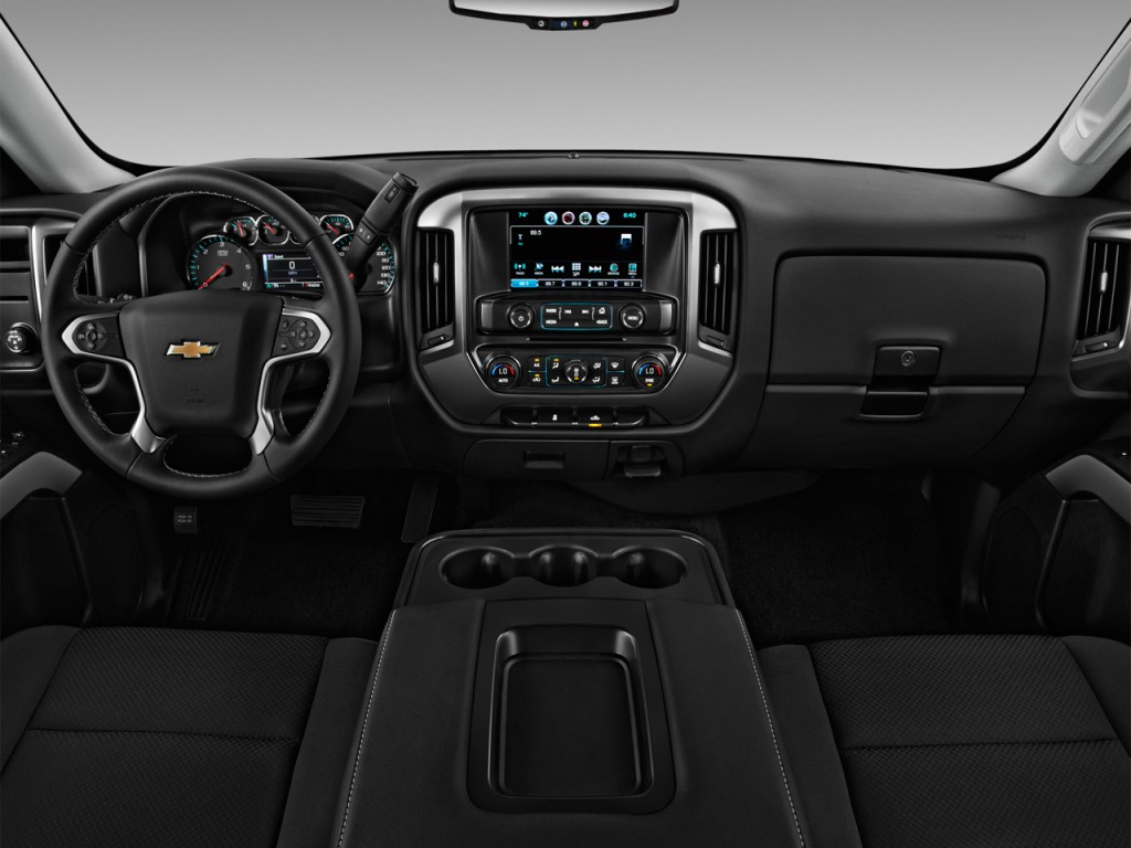 "Types Of Uber Cars >> Image: 2016 Chevrolet Silverado 1500 2WD Double Cab 143.5"" LT w/1LT Dashboard, size: 1024 x 768 ..."