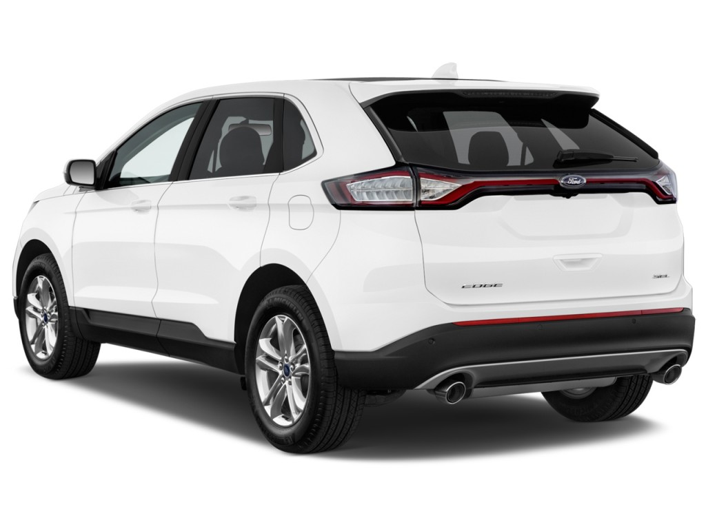 Image: 2016 Ford Edge 4-door SEL FWD Angular Rear Exterior View, size