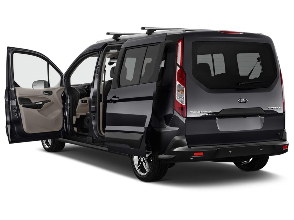image 2016 ford transit connect wagon 4 door wagon lwb titanium w rear liftgate open doors. Black Bedroom Furniture Sets. Home Design Ideas