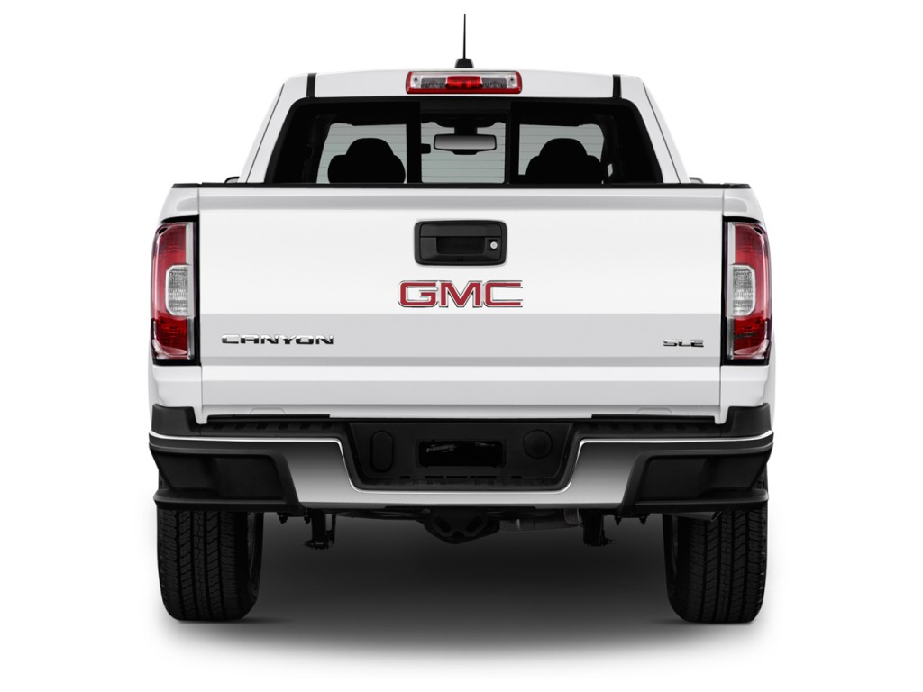 image 2016 gmc canyon 2wd ext cab 128 3 sle rear exterior view size 1024 x 768 type gif. Black Bedroom Furniture Sets. Home Design Ideas