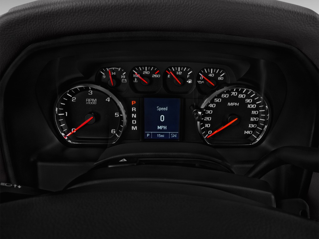 """Image: 2016 GMC Sierra 1500 2WD Double Cab 143.5"""" Instrument Cluster, size: 1024 x 768, type ..."""