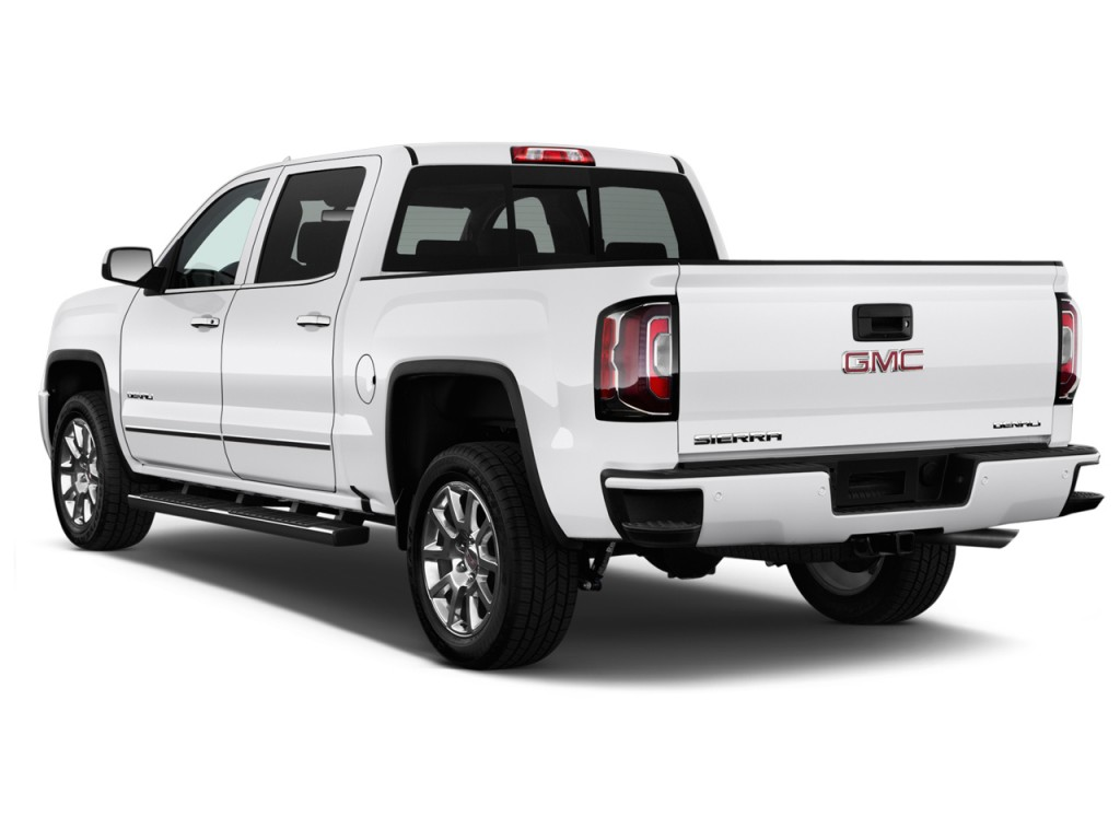 image 2016 gmc sierra 1500 4wd crew cab 143 5 denali angular rear exterior view size 1024 x. Black Bedroom Furniture Sets. Home Design Ideas