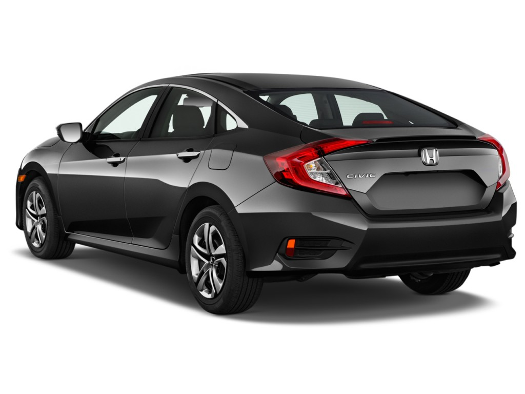 image 2016 honda civic 4 door cvt lx angular rear