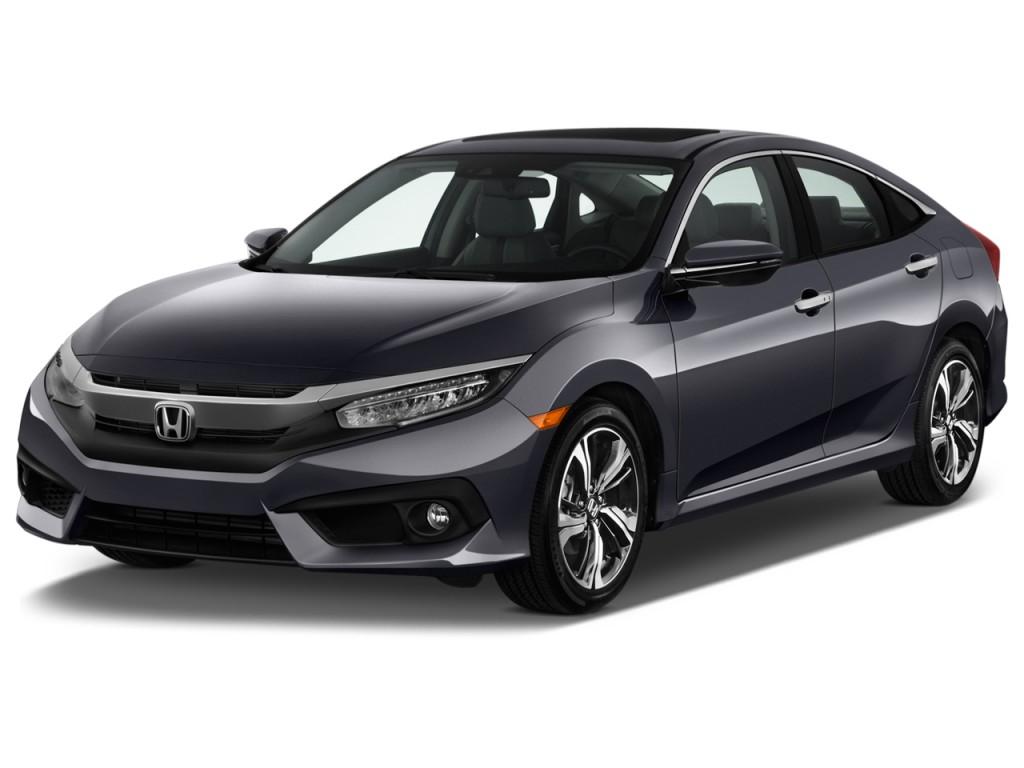 Image 2016 Honda Civic 4 Door Cvt Touring Angular Front Exterior View Size 1024 X 768 Type