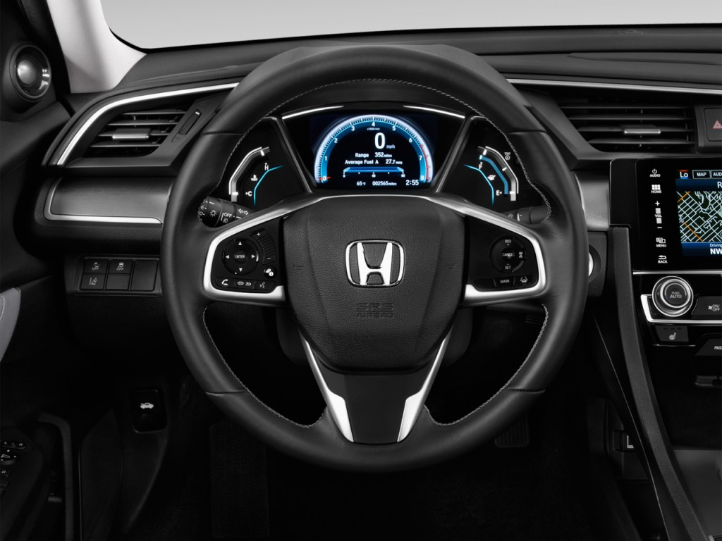 Image 2016 honda civic 4 door cvt touring steering wheel for 2016 honda odyssey tire size