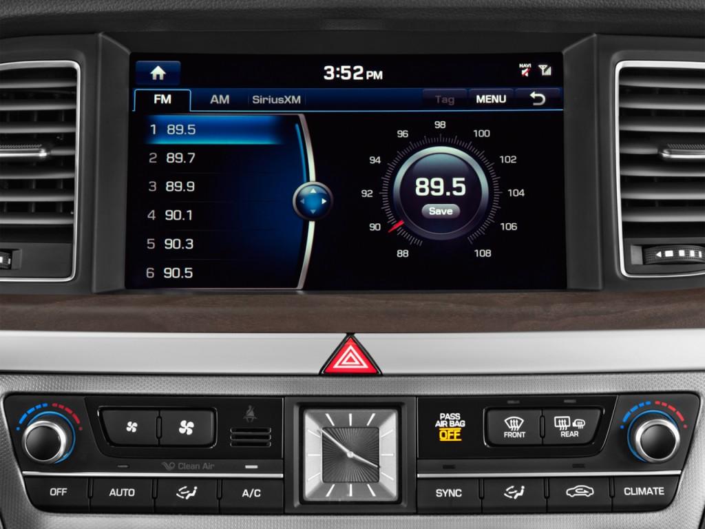 Image 2016 Hyundai Genesis 4 Door Sedan V6 3 8l Rwd Audio System Size 1024 X 768 Type Gif