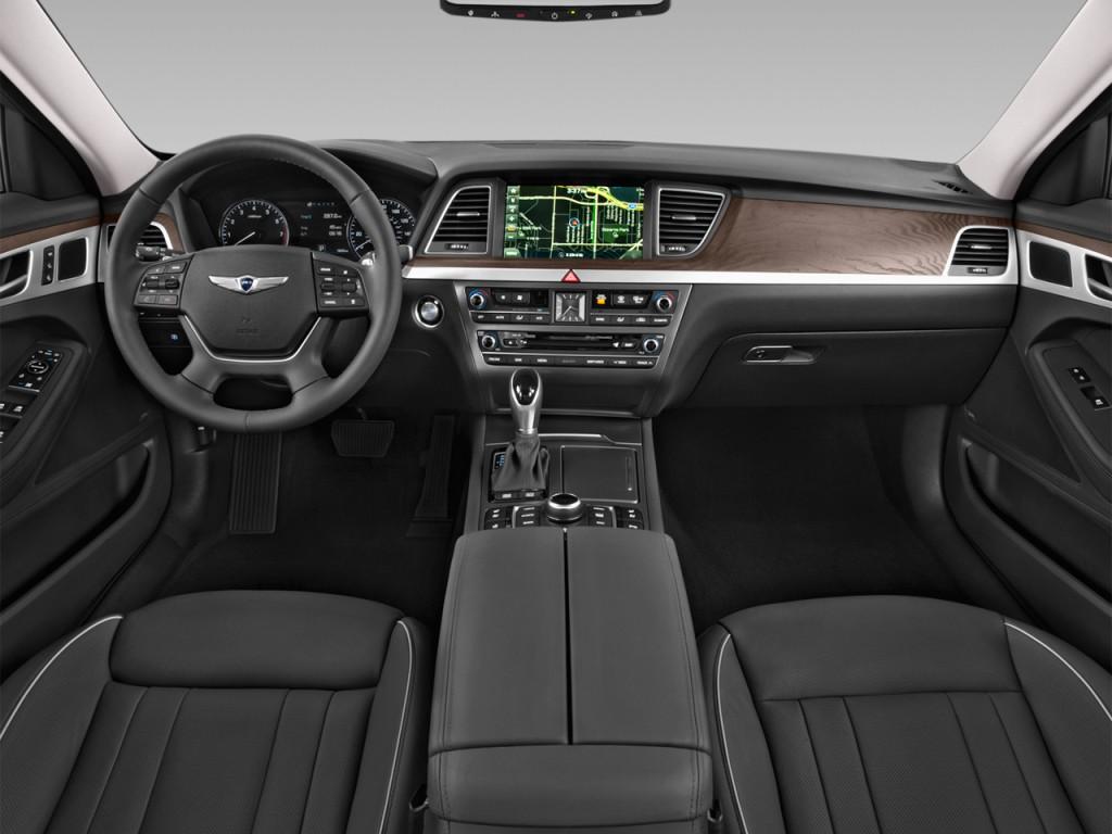 Image 2016 Hyundai Genesis 4 Door Sedan V6 3 8l Rwd Dashboard Size 1024 X 768 Type Gif