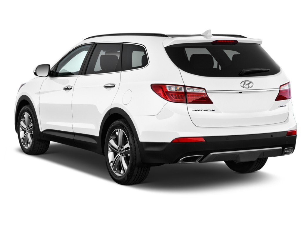 Hyundai Santa Fe Fwd Door Limited Angular Rear Exterior View L
