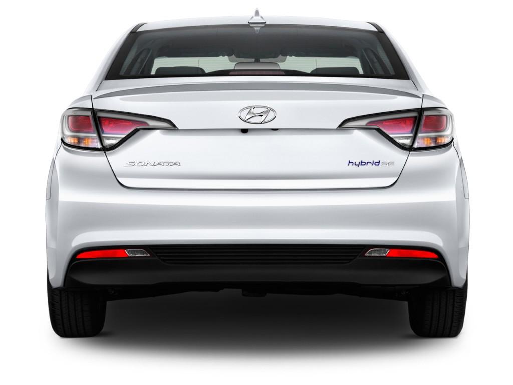 Image 2016 Hyundai Sonata Hybrid 4 Door Sedan Se Rear Exterior View Size 1024 X 768 Type