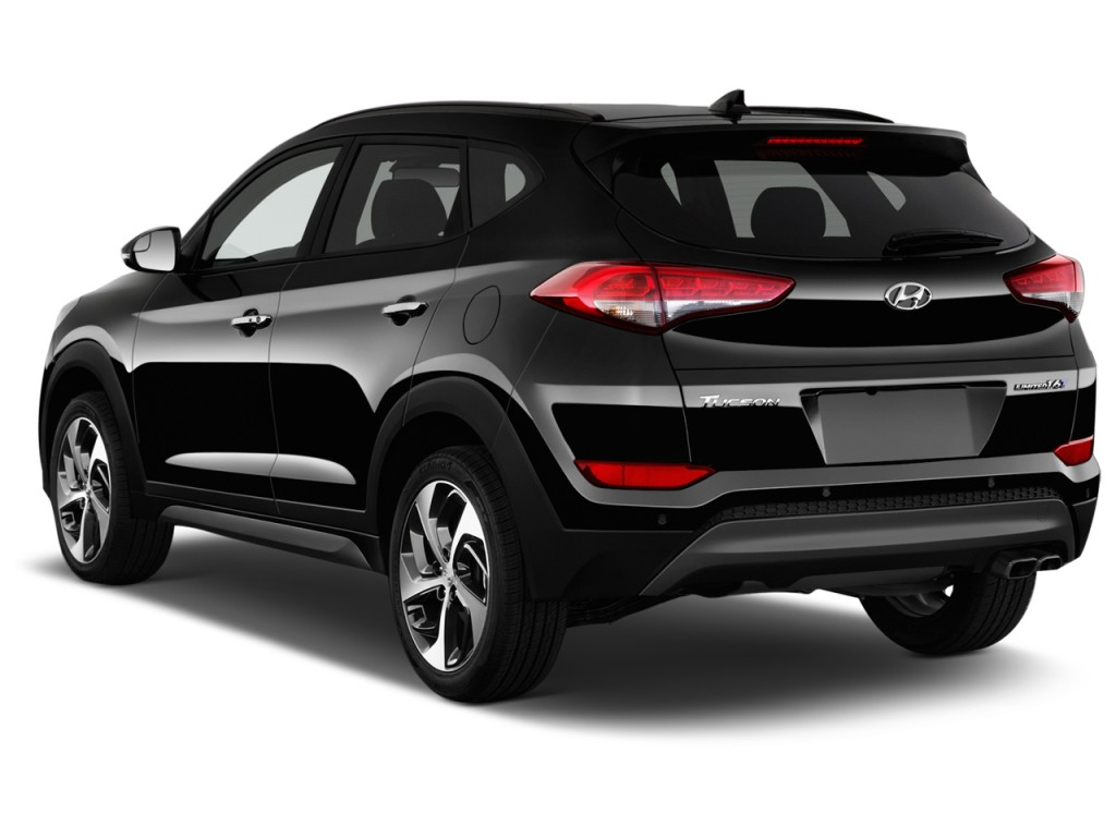 image 2016 hyundai tucson fwd 4 door limited angular rear exterior view size 1024 x 768 type. Black Bedroom Furniture Sets. Home Design Ideas