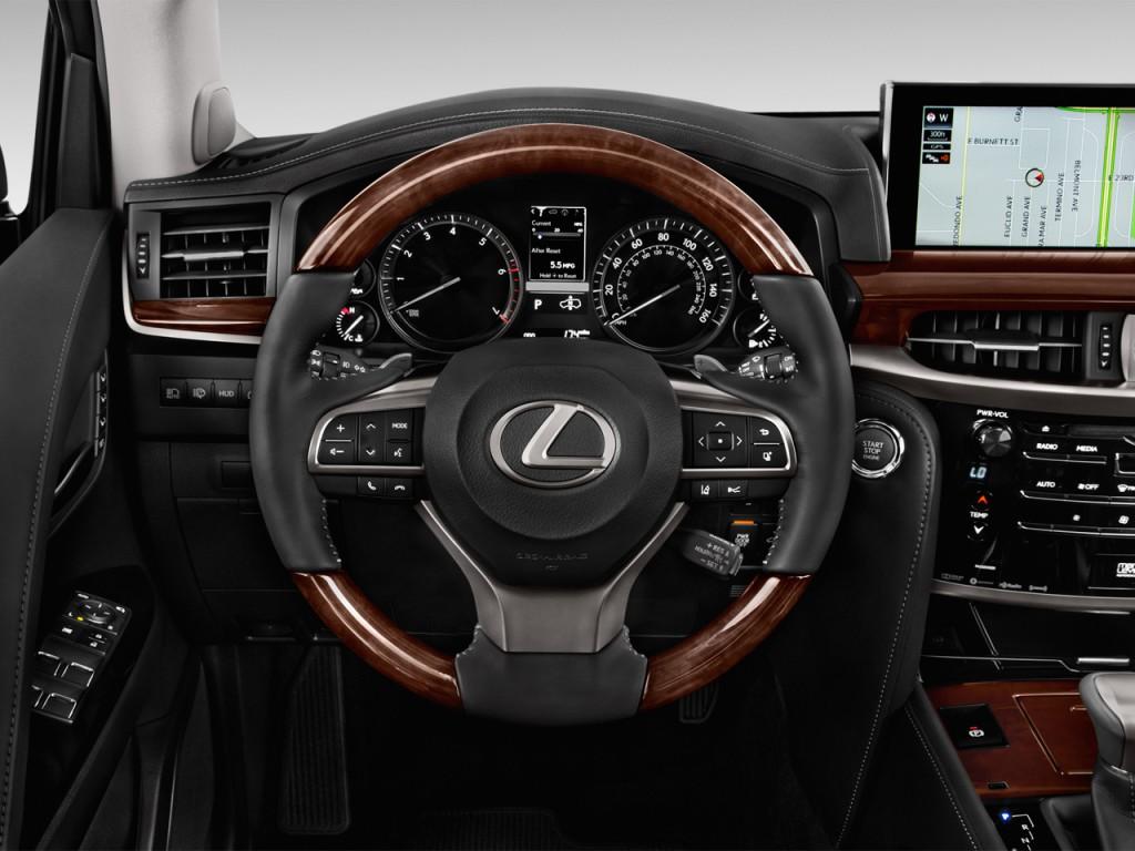 Image: 2016 Lexus LX 570 4WD 4-door Steering Wheel, size ...