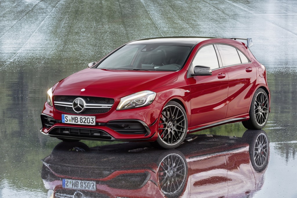 2016 Mercedes AClass Debuts MercedesAMG A45 Now With 375 HP Video