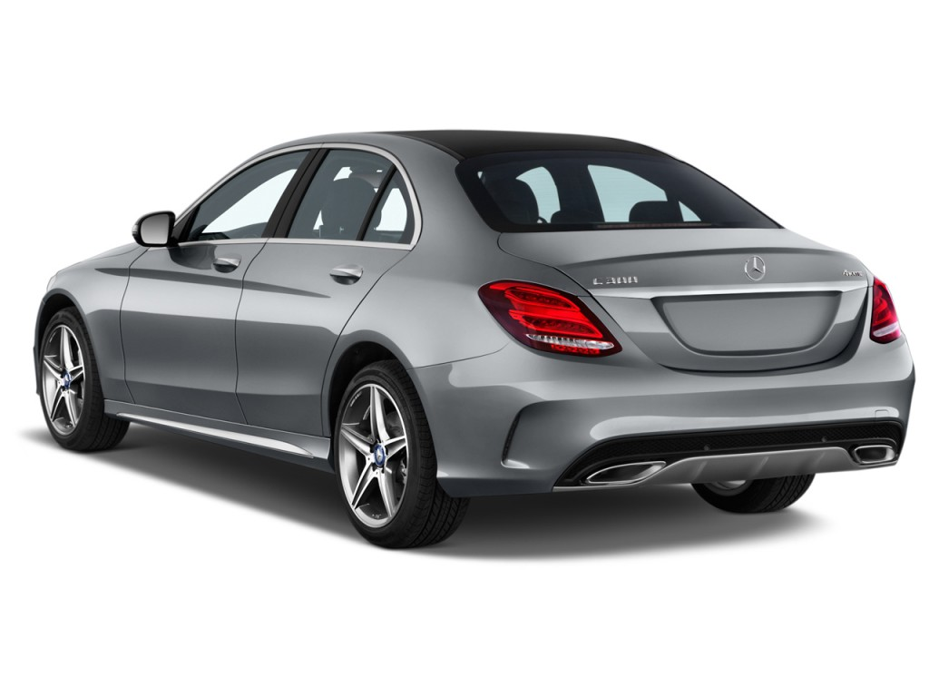 Image 2016 Mercedes Benz C Class 4 Door Sedan C300 Sport Rwd Angular Rear Exterior View Size
