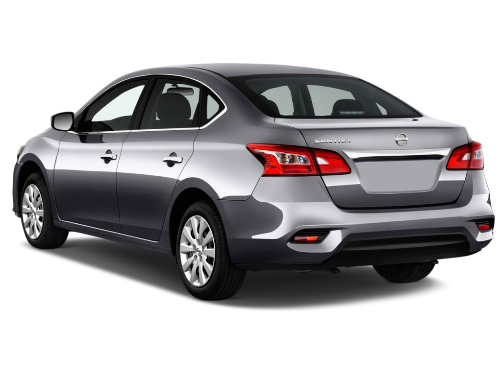 Image 2016 nissan sentra 4 door sedan i4 cvt s angular rear exterior