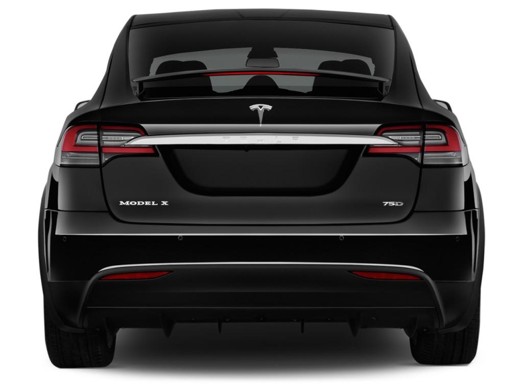 Image 2016 Tesla Model X Awd 4 Door 75d Rear Exterior