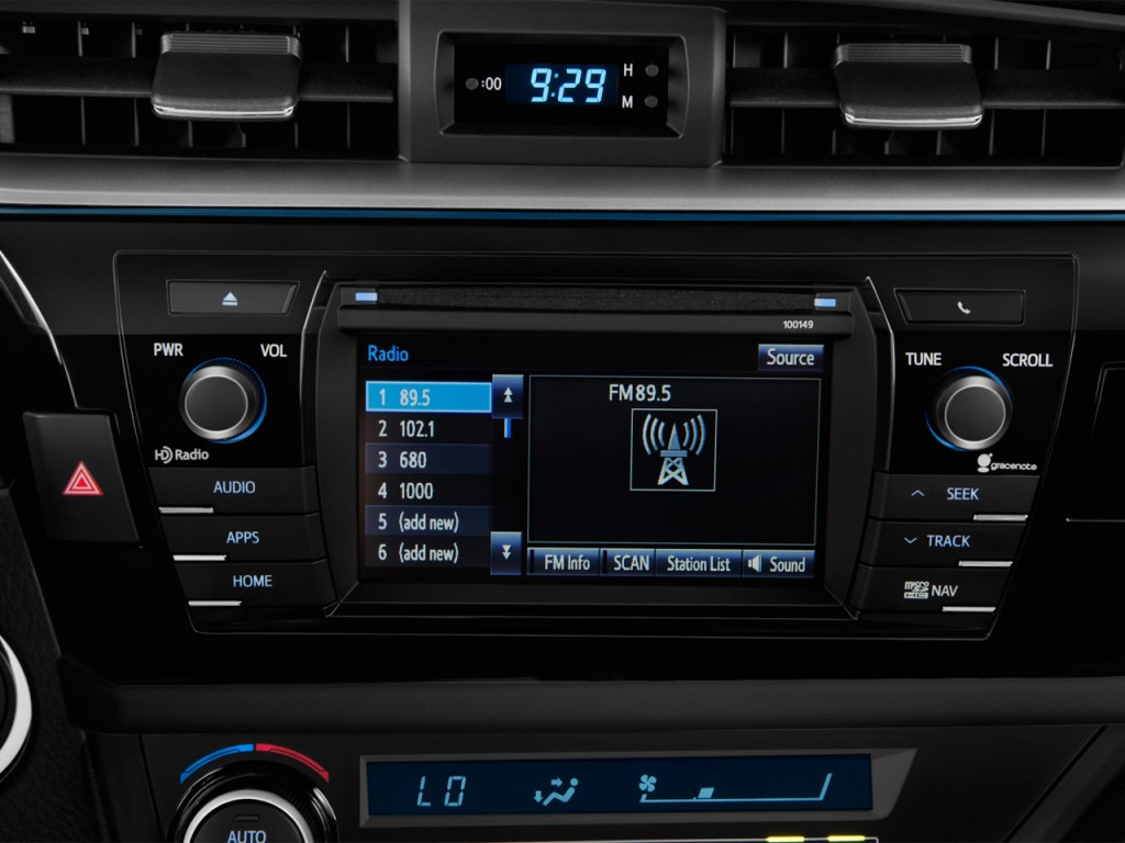 image 2016 toyota corolla 4 door sedan cvt le eco natl audio system size. Black Bedroom Furniture Sets. Home Design Ideas