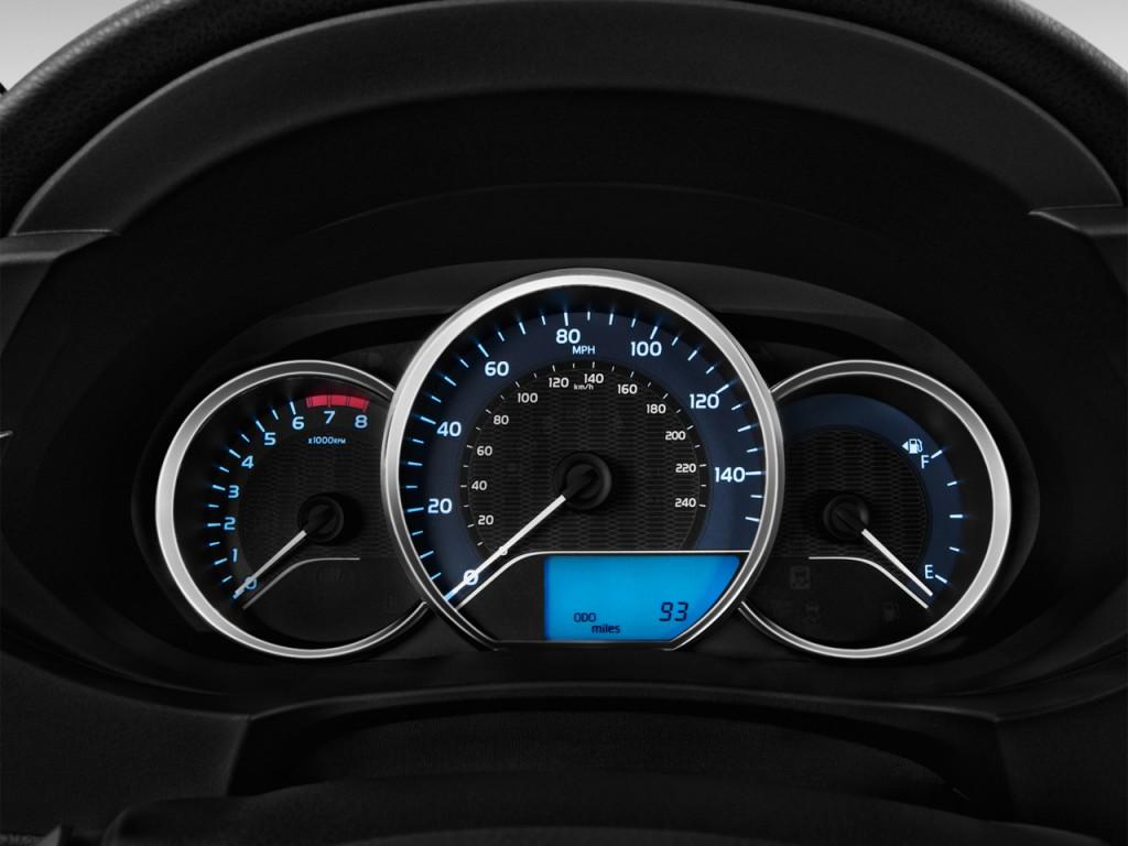 Image 2016 Toyota Corolla 4 Door Sedan Cvt Le Eco Natl Instrument Cluster Size 1024 X 768