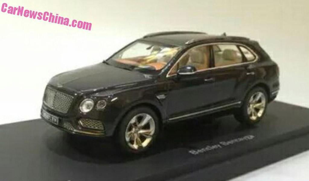 2017 bentley bentayga leaked in scale model form for Bentley motors net worth