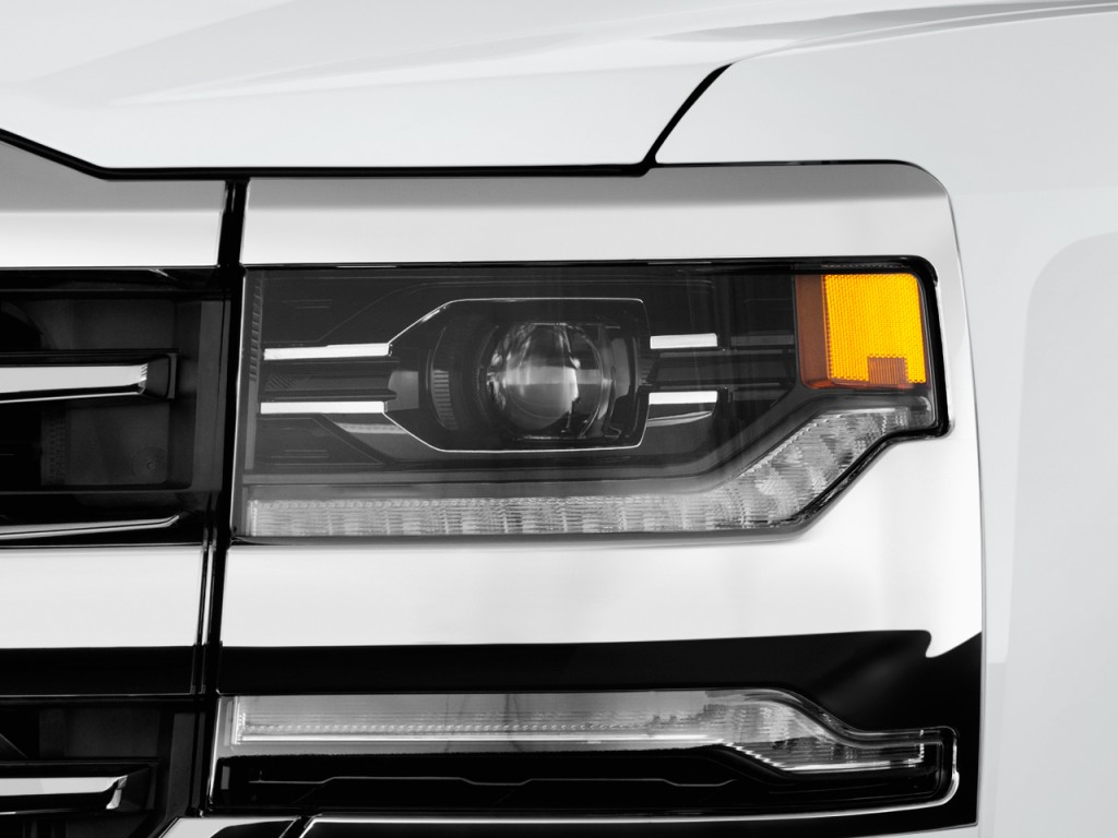 "Image: 2017 Chevrolet Silverado 1500 2WD Crew Cab 143.5"" High Country Headlight, size: 1024 x ..."