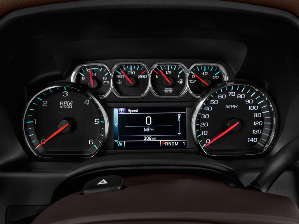"Takata Airbag >> Image: 2017 Chevrolet Silverado 1500 2WD Crew Cab 143.5"" High Country Instrument Cluster, size ..."