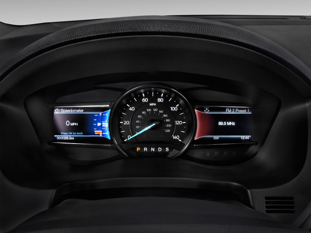 Ford Transit Cutaway >> Image: 2017 Ford Explorer XLT FWD Instrument Cluster, size ...