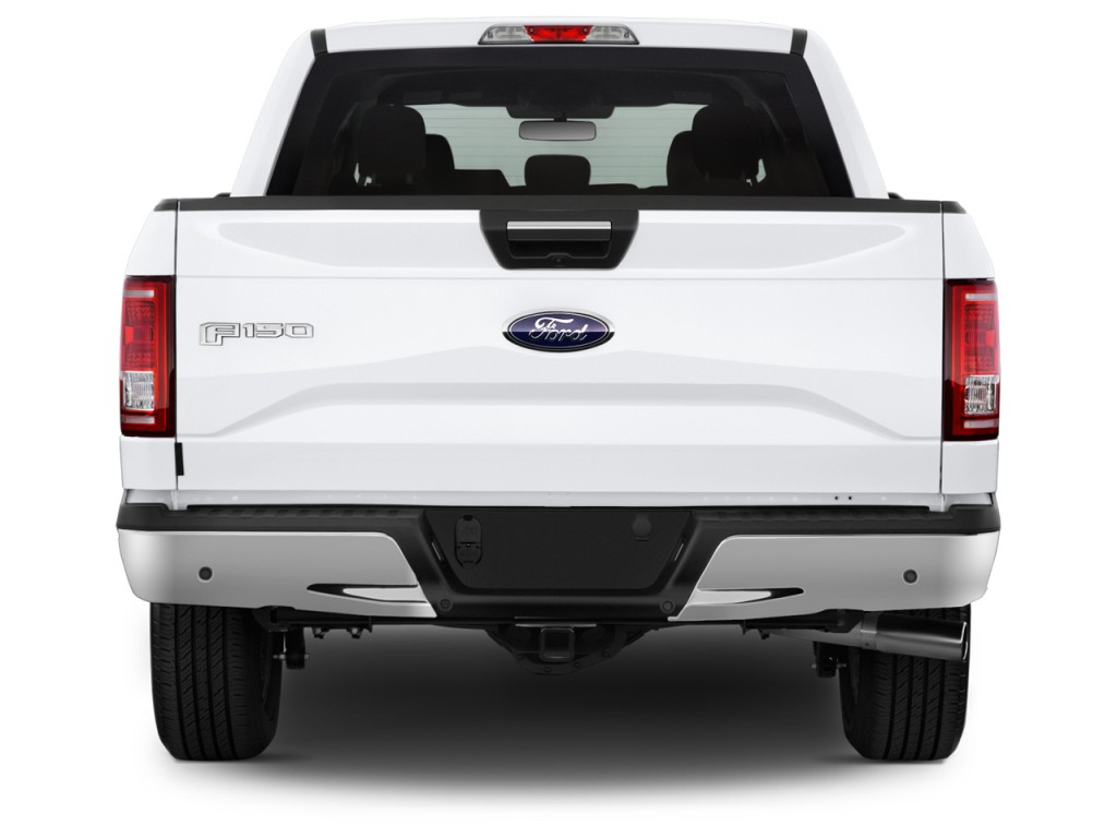 Image: 2017 Ford F-150 XLT 2WD SuperCrew 5.5' Box Rear Exterior View, size: 1024 x 768, type ...