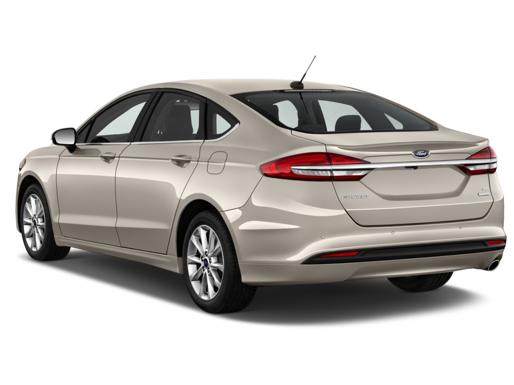 Image 2017 Ford Fusion Se Fwd Angular Rear Exterior View