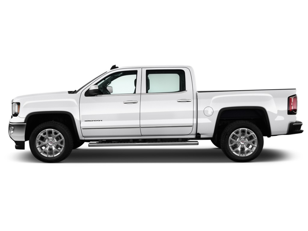 image 2017 gmc sierra 1500 2wd crew cab 143 5 slt side exterior view size 1024 x 768 type. Black Bedroom Furniture Sets. Home Design Ideas