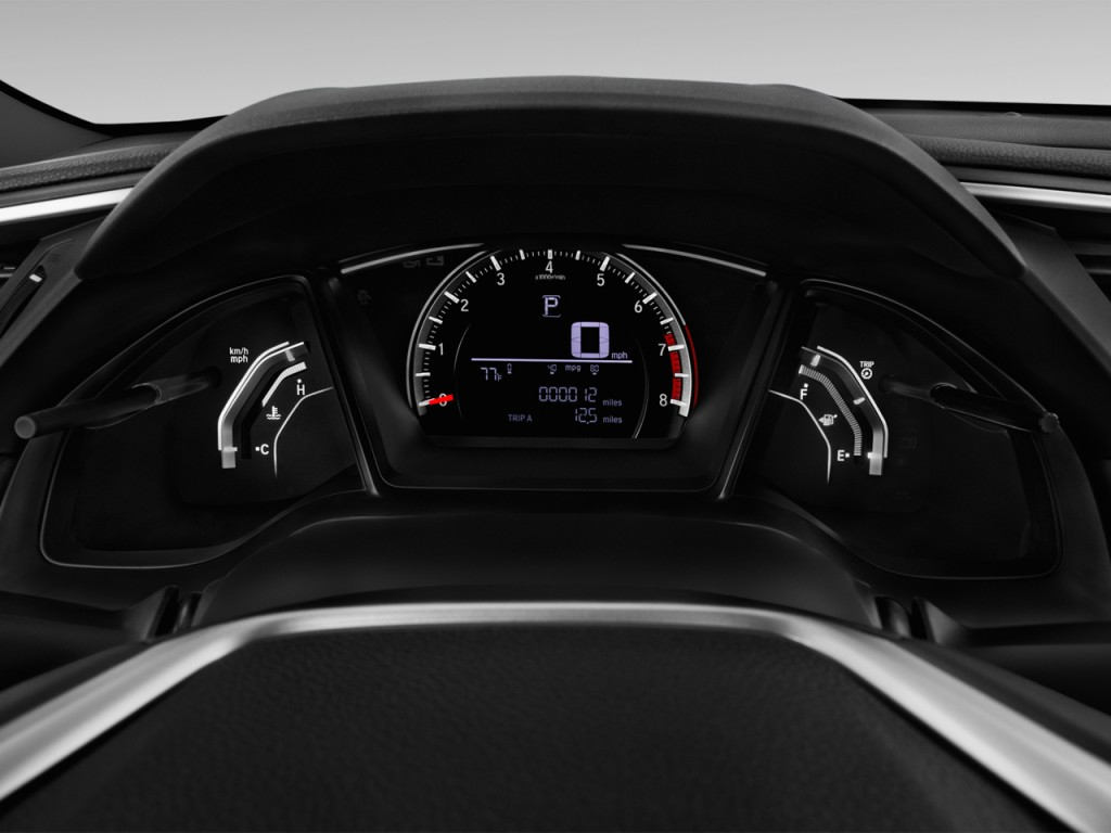 2016 Honda Element >> Image: 2017 Honda Civic Coupe LX Manual Instrument Cluster ...