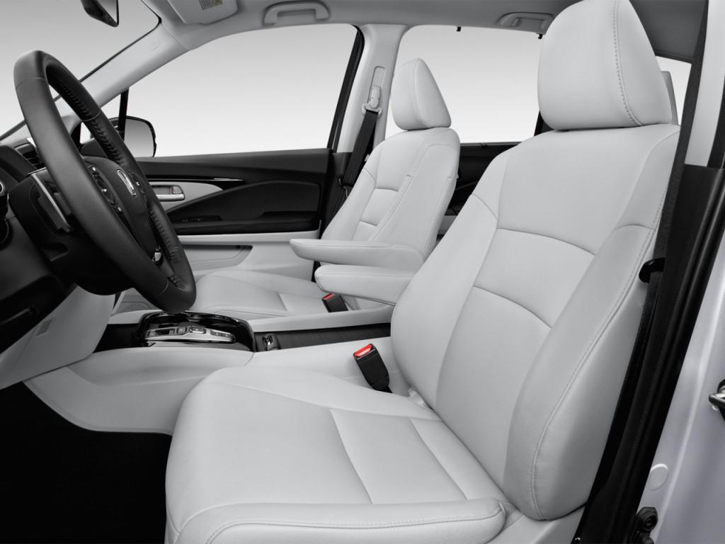 Image 2017 honda pilot touring 2wd front seats size for Honda pilot seating