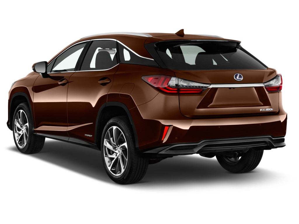 image 2017 lexus rx rx 450h awd angular rear exterior. Black Bedroom Furniture Sets. Home Design Ideas