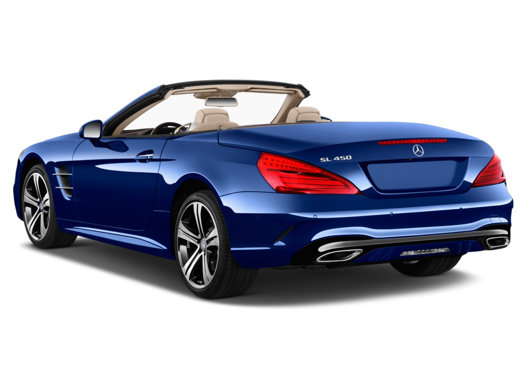image 2017 mercedes benz sl sl450 roadster angular rear. Black Bedroom Furniture Sets. Home Design Ideas