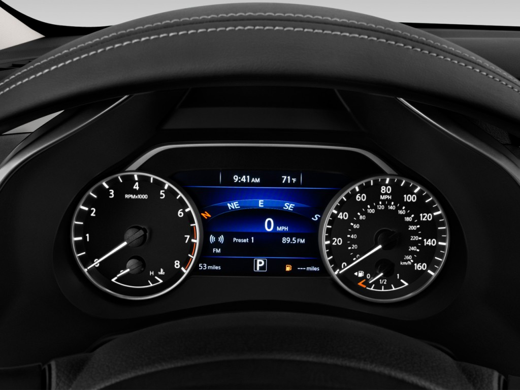 image 2017 nissan murano fwd sv instrument cluster size. Black Bedroom Furniture Sets. Home Design Ideas