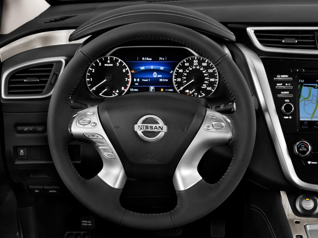 Image 2017 Nissan Murano Fwd Sv Steering Wheel Size