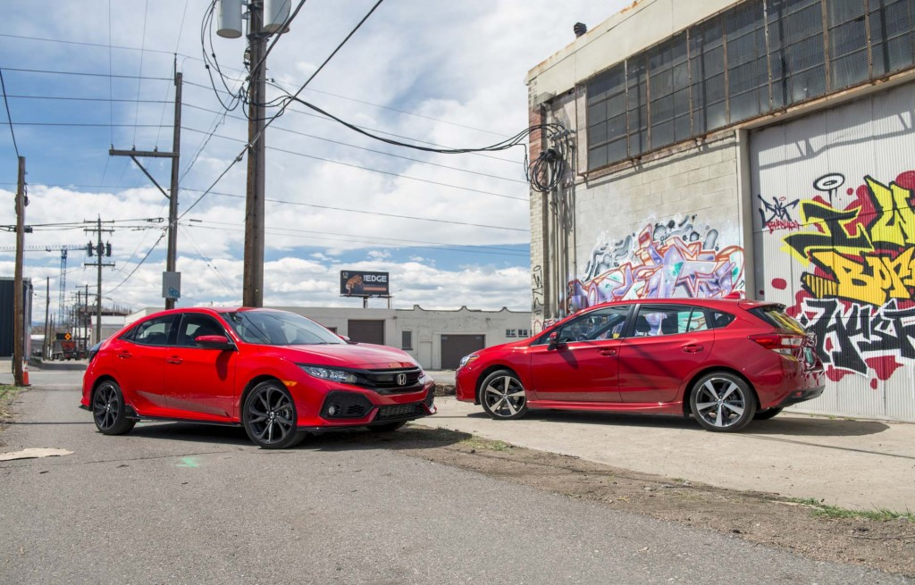 2017 Honda Civic Hatchback vs. 2017 Subaru Impreza 5-Door video compare