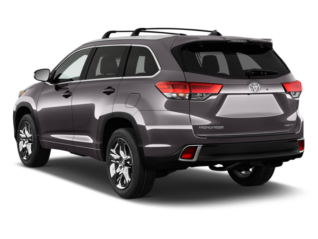 Image 2017 toyota highlander limited platinum v6 fwd natl angular rear exterior view size