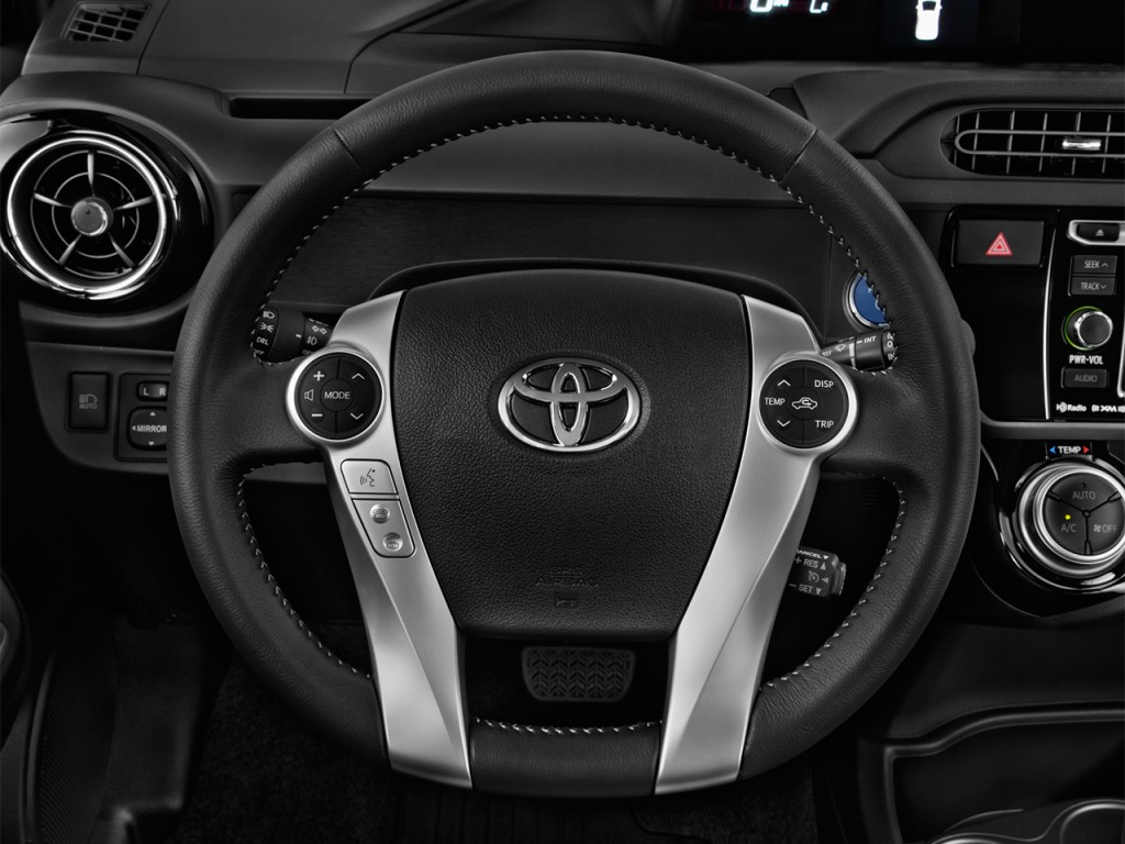 image 2017 toyota prius c four natl steering wheel. Black Bedroom Furniture Sets. Home Design Ideas