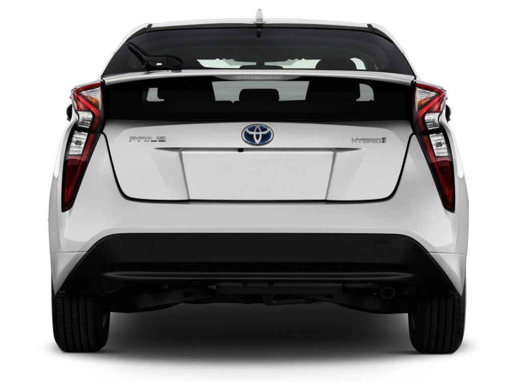 image 2017 toyota prius two natl rear exterior view. Black Bedroom Furniture Sets. Home Design Ideas