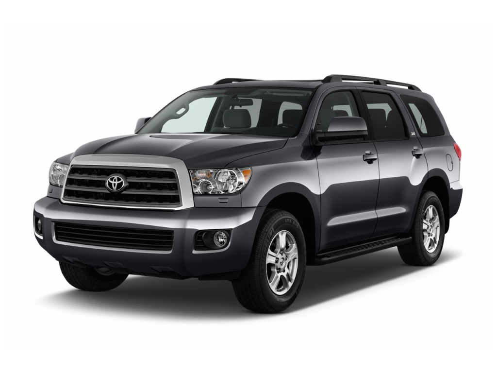 Image: 2017 Toyota Sequoia SR5 RWD (Natl) Angular Front Exterior View, size: 1024 x 768, type ...