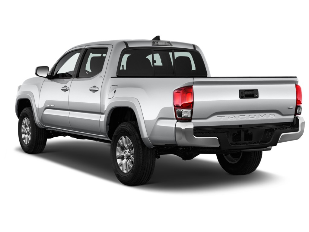 image 2017 toyota tacoma sr5 double cab 5 39 bed v6 4x4 at natl angular rear exterior view. Black Bedroom Furniture Sets. Home Design Ideas