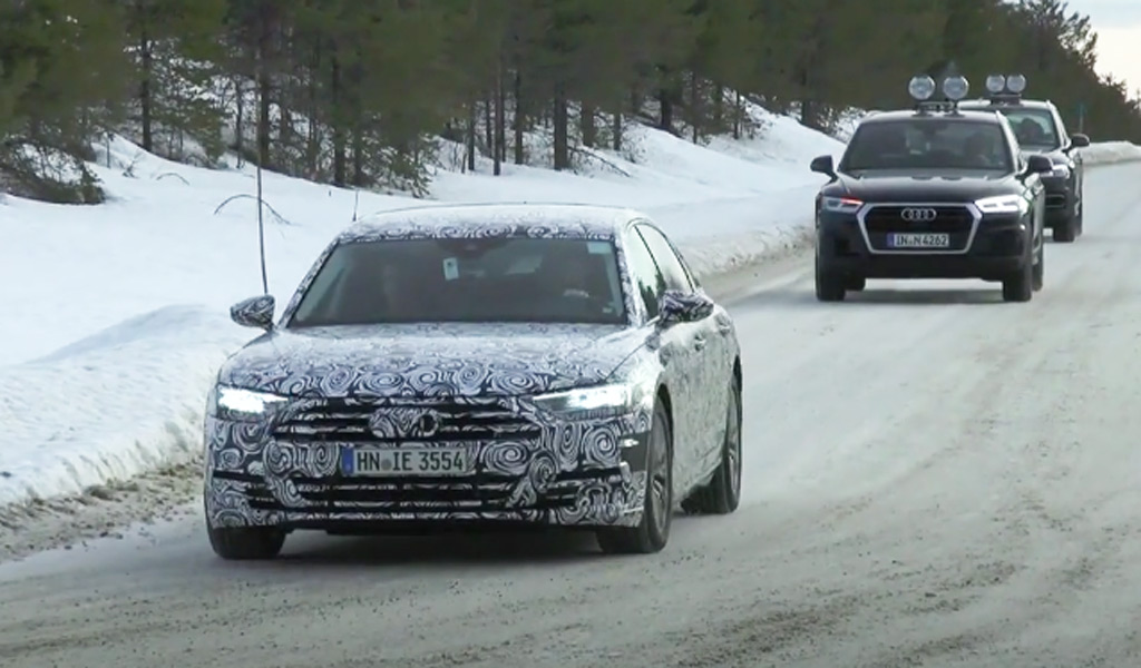 2018 Jeep Grand Cherokee Trackhawk Hellcat >> 2019 Audi A8 spy shots and video
