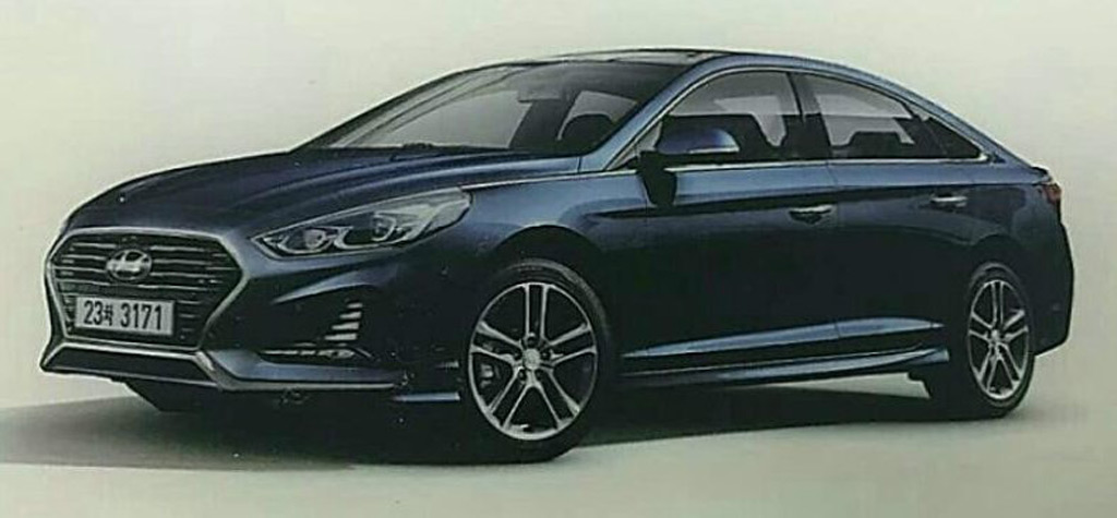1032355 2018 Hyundai Sonata Leaked Adopts Sporty Look on 2017 tesla model 3 motor