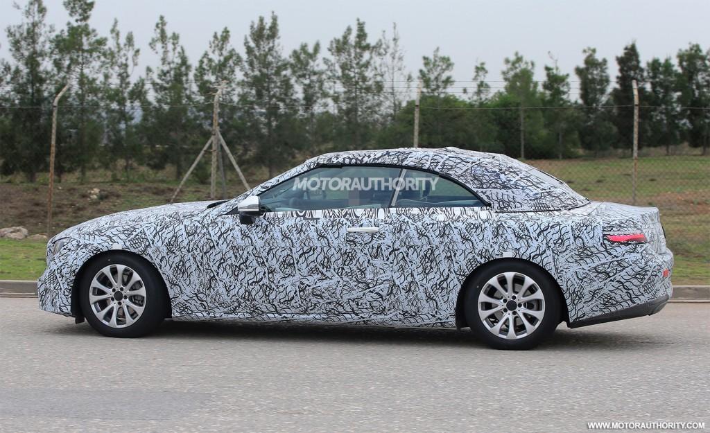 2018 Mercedes-Benz E-Class Cabriolet spy shots - Image via S. Baldauf ...