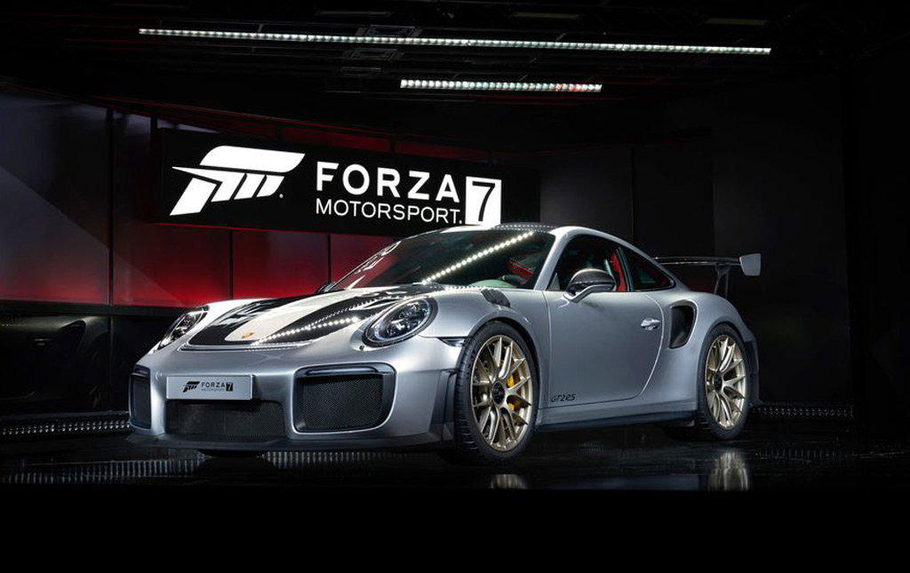 "Gran Cherokee 2018 >> 2018 Porsche 911 GT2 RS revealed at ""Forza 7"" launch"
