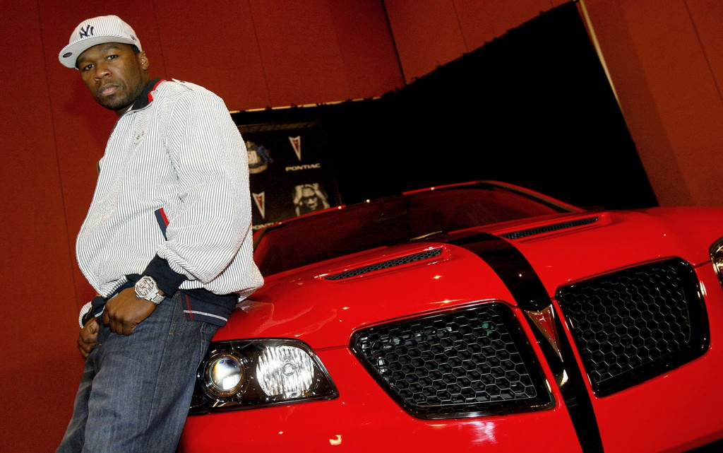 50 Cent and his custom Pontiac G8 at SEMA
