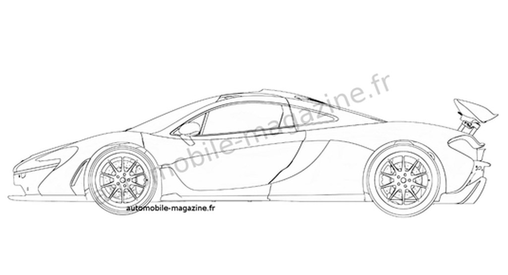 Production Mclaren P1 Revealed In Patent Drawing