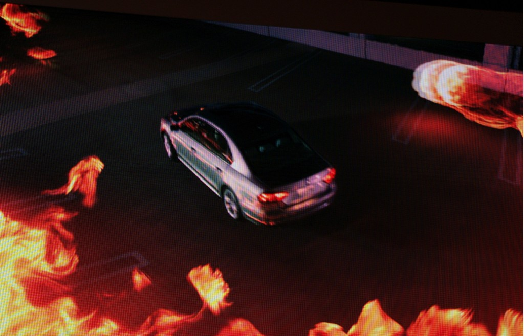 Arsonist Passat at Detroit Firehouse